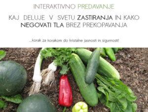Naslovnica za predavanje ● Vrt BREZ prekopavanja ● Zastiranje in nega tal